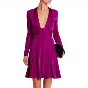Issa London Pheodora Leather-Trimmed Jersey Dress